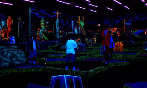 Glow In The Dark Mini Golf Fun
